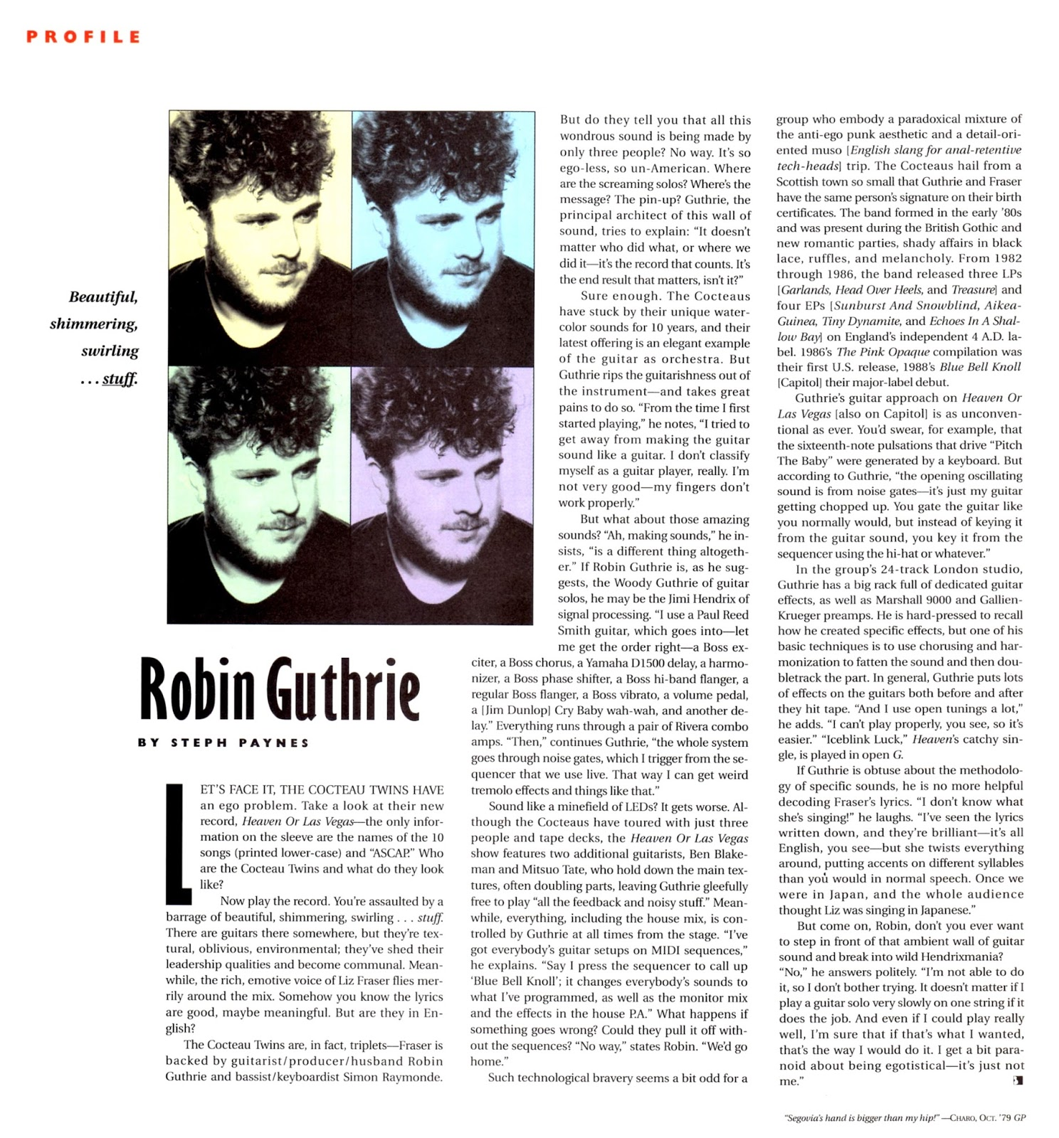 Profile: Robin Guthrie